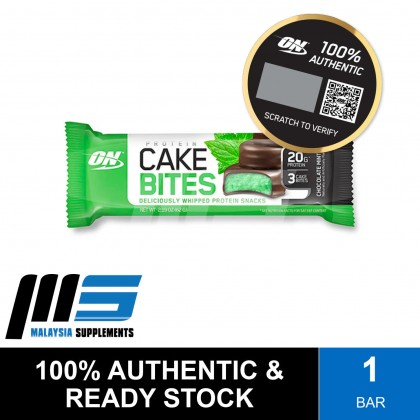 Optimum Nutrition Protein Cake Bites, 1 bar - Protein Bar, Protein Snacks, Muscle Building, Lean Muscle
