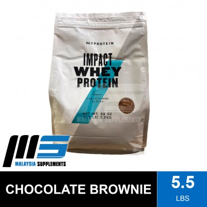 Myprotein Impact Whey, 5.5lbs - Whey Protein Powder, Muscle Building, Lean Muscle, Susu Gym
