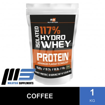 BS Nutrition Isolated Hydro Whey Protein, 1kg (FREE MESO SHAKER) - Whey Protein Powder, Muscle Building, Lean Muscle, Susu Gym