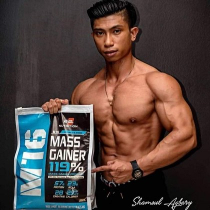 BS Nutrition M16 Mass Gainer Protein, 5.4kg (FREE MESO SHAKER) - Weight & Mass Gain, Muscle Building, Bulking & Sizing, Susu Gym